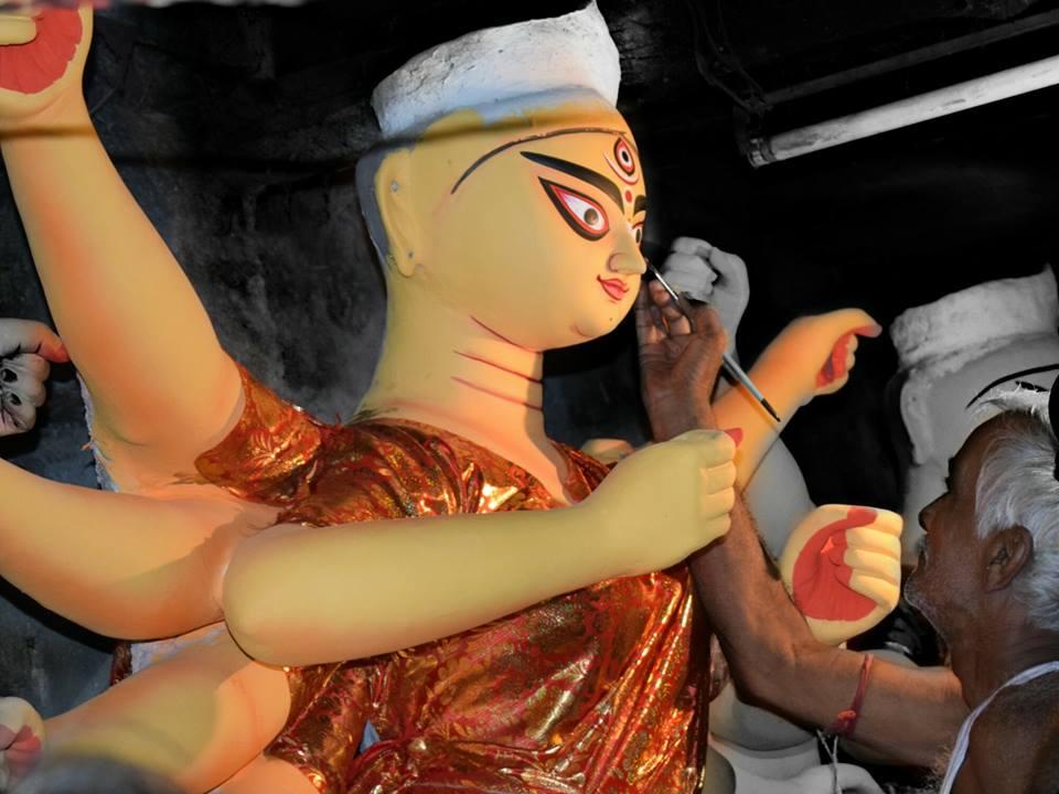 Making of Durga Idol