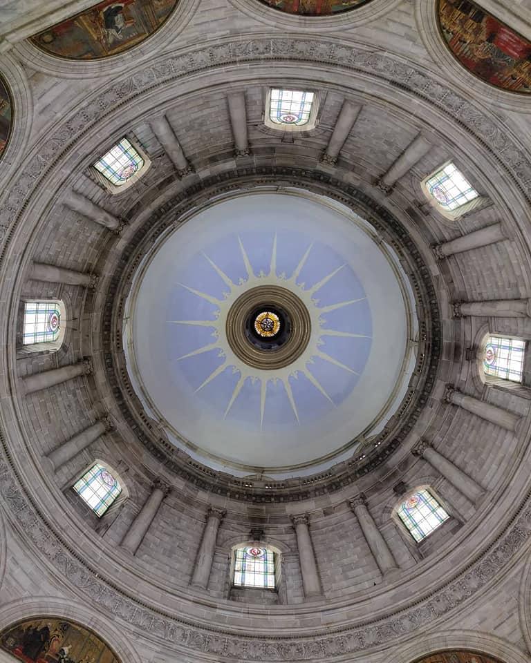 Inside Victoria Memorial dome